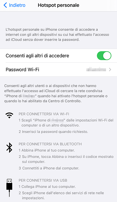 hotspot iPhone Pc