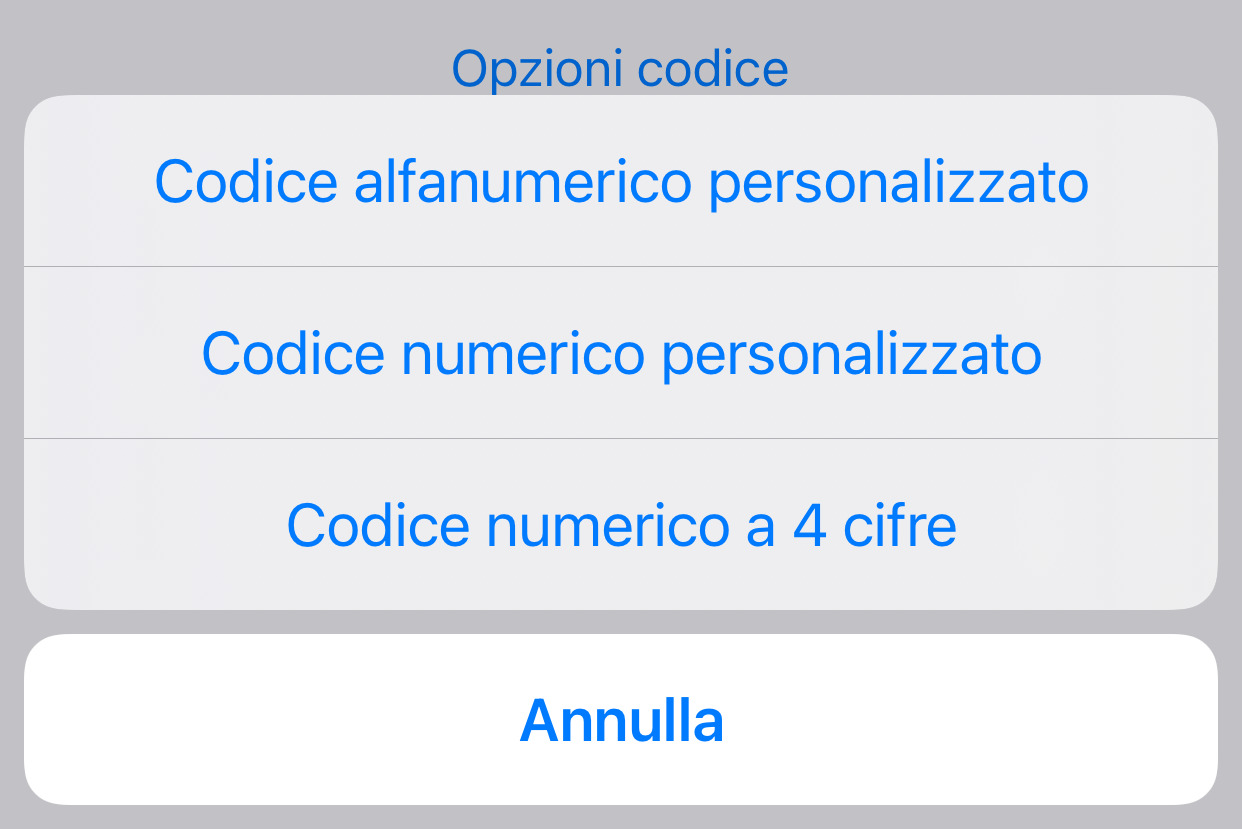 iPhone codice