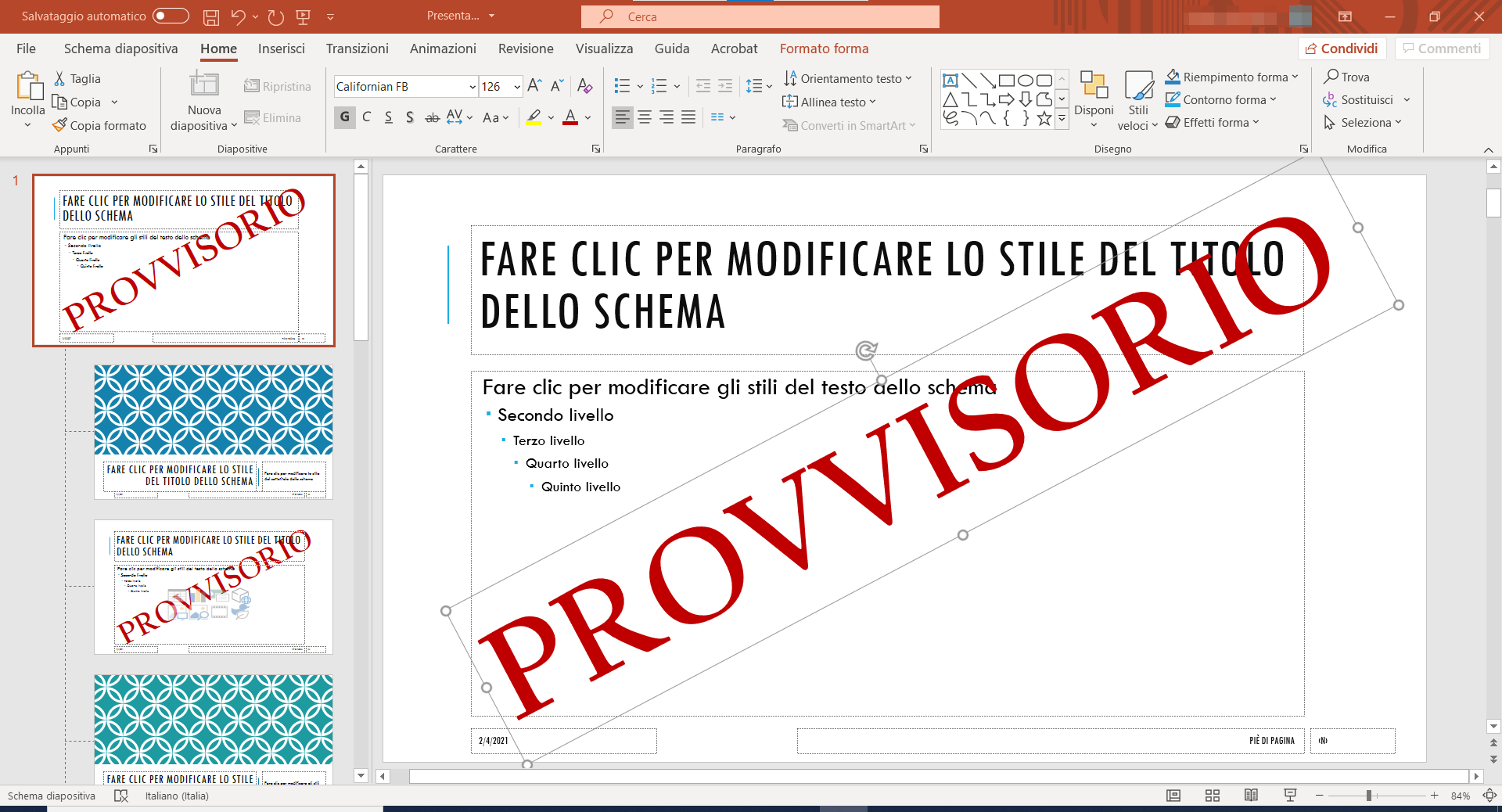 filigrana PowerPoint