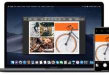Fotocamera Continuity Mac iPhone