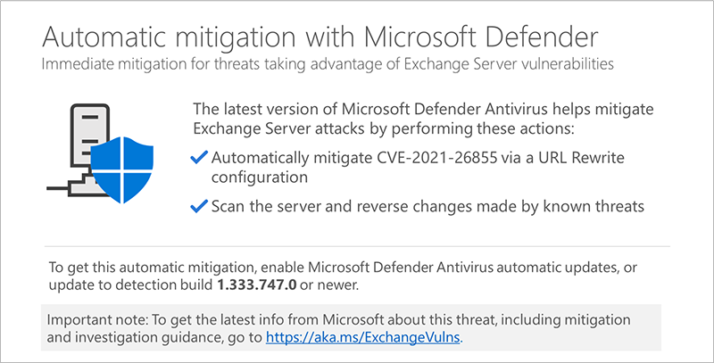 Microsoft Defender Exchange