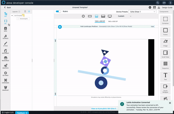 Amazon Alexa Presentation Language