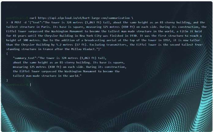 Natural Language Processing NLPCloud.io
