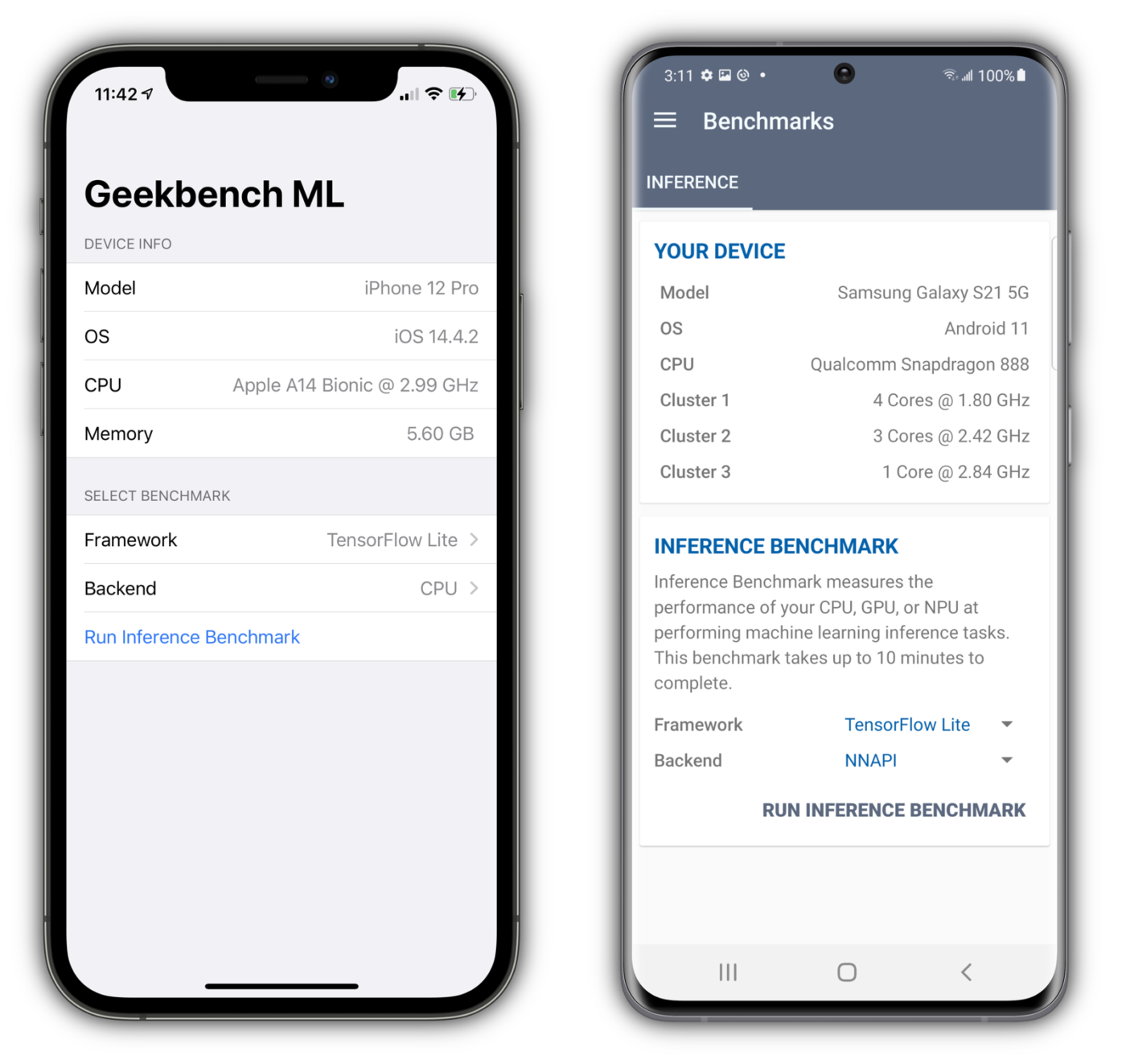 Machine learning mobile Geekbench ML