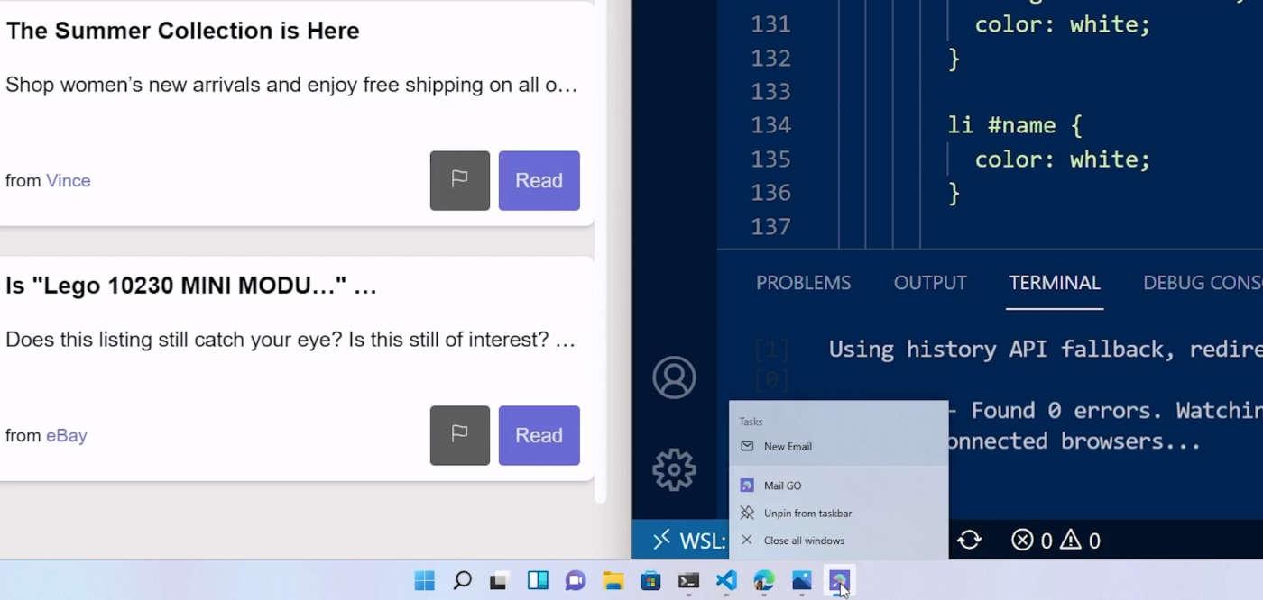Windows 11 Sviluppatori