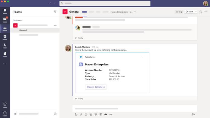 Salesforce in Microsoft Teams