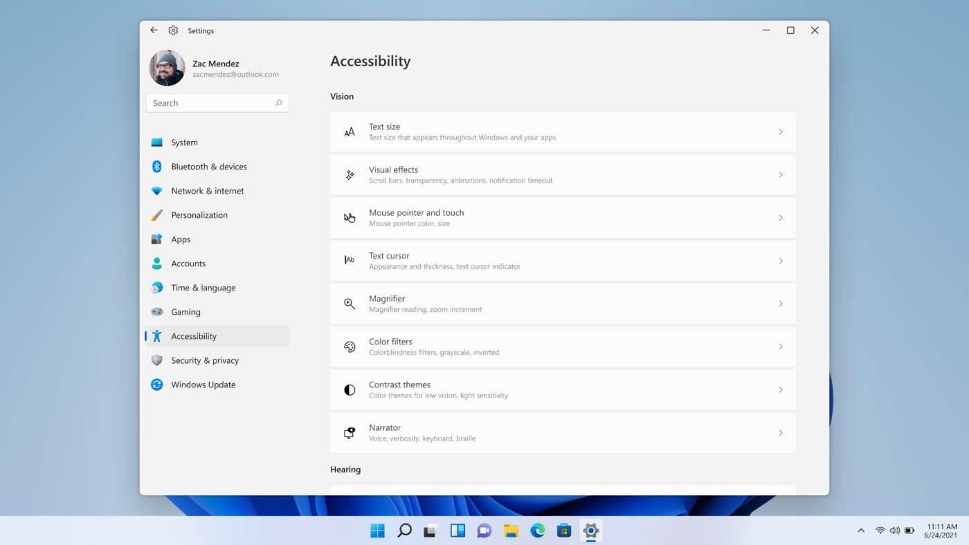 Windows 11 accessibilità