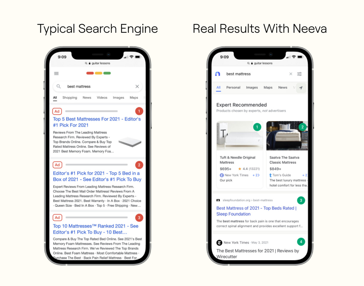 motore di ricerca Neeva