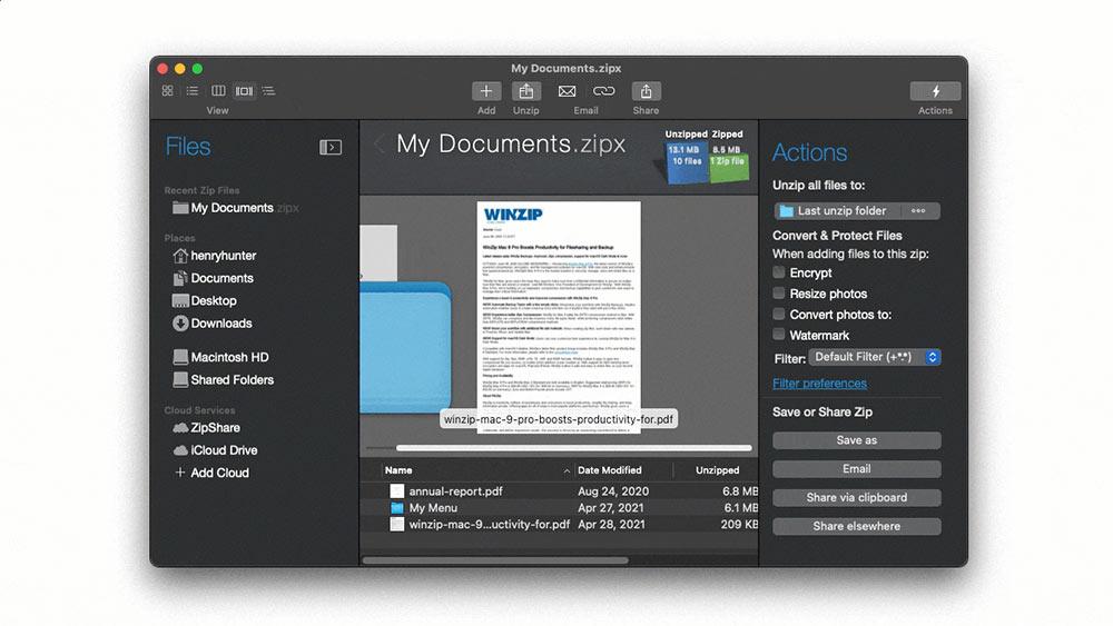 WinZip Mac 9