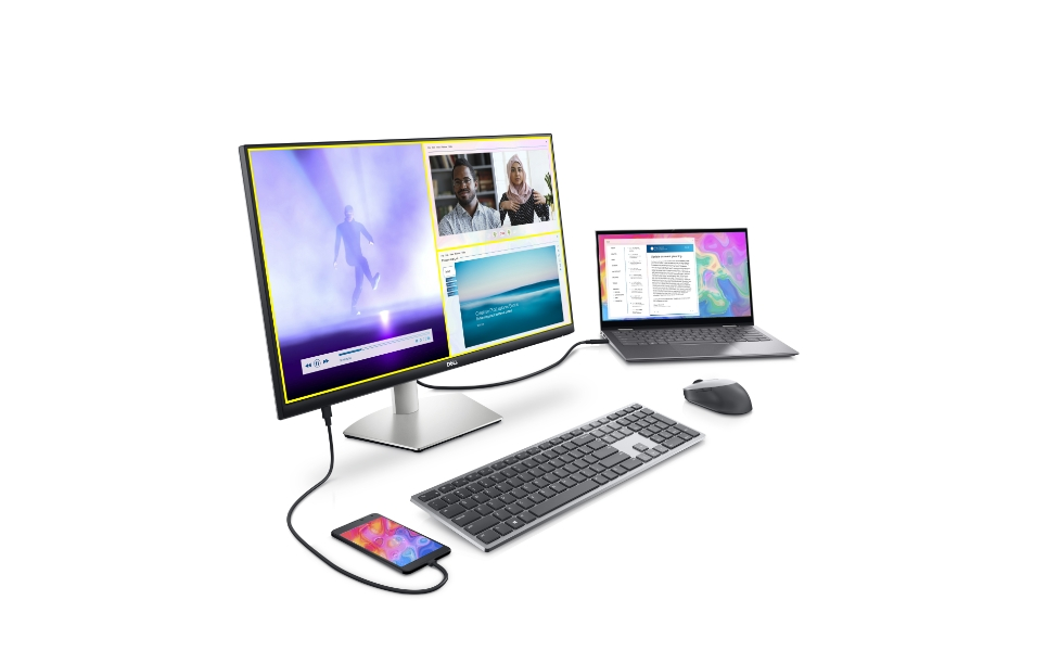 Dell 27 4K USB-C_ecosystem shot