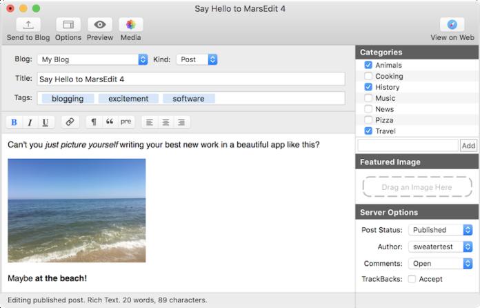 MarsEdit Mac WordPress