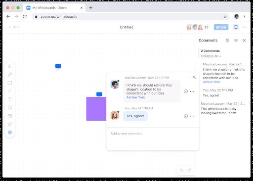 Zoom Whiteboard collaborazione